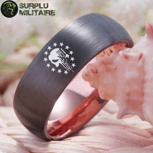 bague militaire us punisher tungstene 72 5 prix
