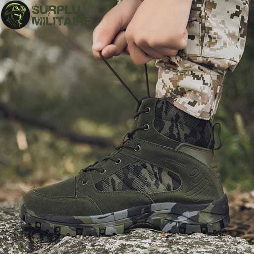 chaussures militaires boots green camo 46 pas chers 1
