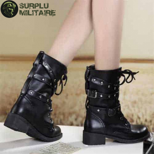 chaussures militaires girly boots trendy 42 pas chers 1