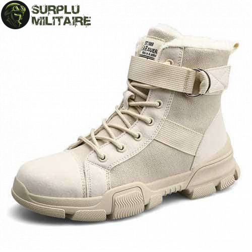 chaussures militaires girly urban boots beiges 41 a vendre