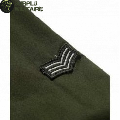 chemise militaire homme slim fit vert armee 6xl cat