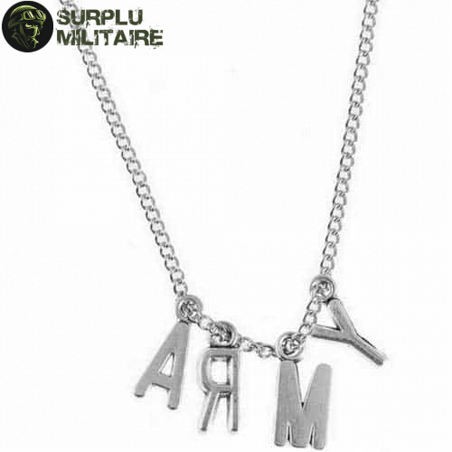 collier militaire army pas chers 1