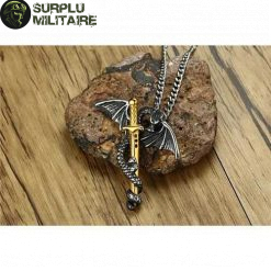 collier militaire dragon epee a vendre