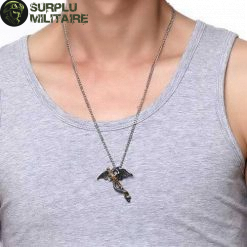 collier militaire dragon epee prix