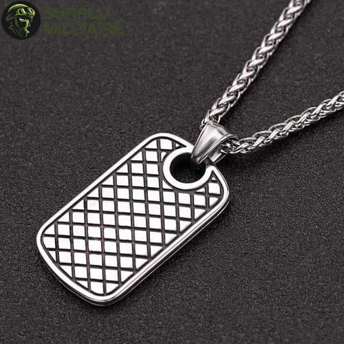 collier militaire plaque girly a vendre
