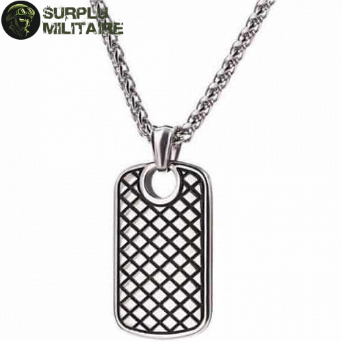 collier militaire plaque girly pas chers 1