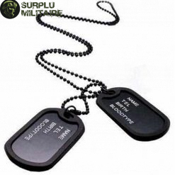 collier militaire plaque us 1