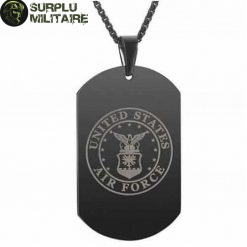 collier militaire plaque us air force style 1 black cat 1