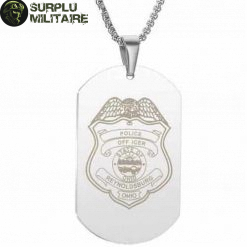 collier militaire plaque us police style 4 black cat 1