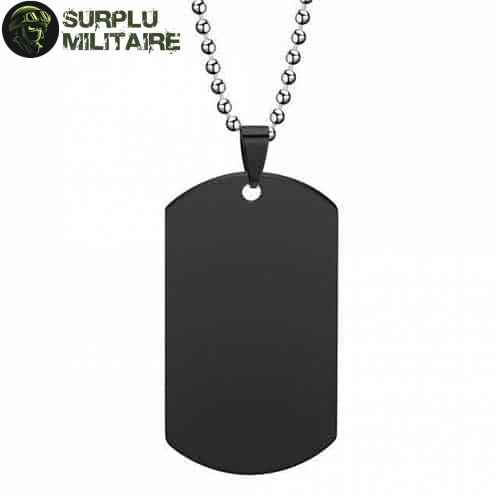 collier militaire plaque vierge or 1
