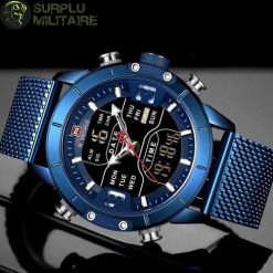 montre militaire instinct tactical bleu cat 1