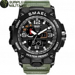 montre militaire primary focus vert armee cat