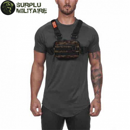 sacoche militaire chest bag camouflage prix 1