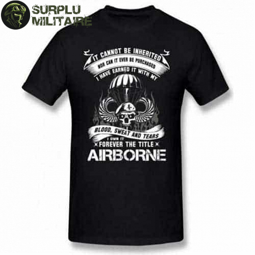 t shirt militaire homme airborne vert armee 4xl cat