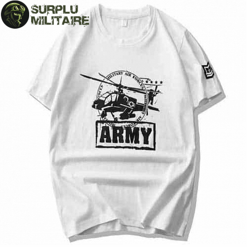 t shirt militaire homme helicoptere blanc 3xl prix